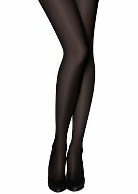 Womens Black Tights Opaque Ladies Extra Thick 40 Denier Stretched Full Length 3X