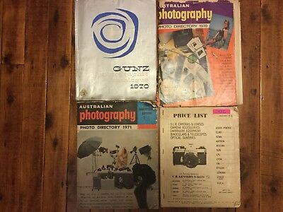 AUSTRALIA PHOTOGRAPHY MAGAZINE 1970, 1971, GUNZ & Misc Catalogue 1970 / 1972