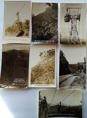 Lot 7 Vintage RPPC Real Photo postcards of FRANCONIA & CRAWFORD NOTCH, NH #100