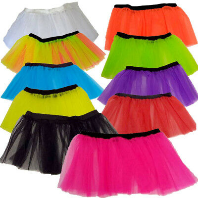 *4 To 12* Childrens Kids Neon Tutu Skirt 1980S 80S Fancy Dress Ballet Petticoat