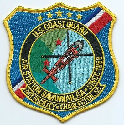 United States Coast Guard (USCG) patch) air sta Savannah, GA 4-3/8X4 inches