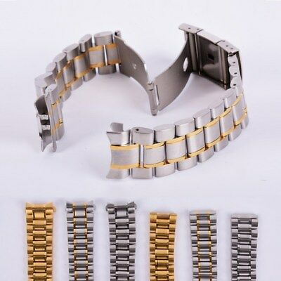 Replacement Stainless Steel Strap Band Clasp Metal Watch Bracelet 18/ 20/22/24mm