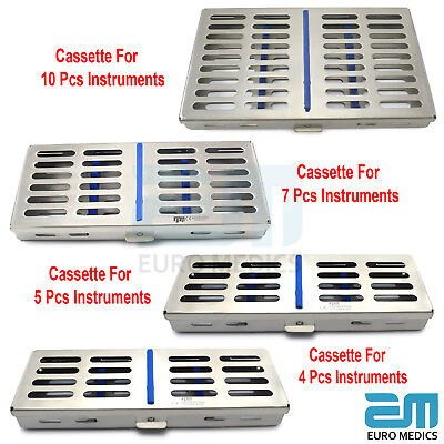Dental Cassette For 4,5,7,10 Pieces Instruments Tray Sterilize Autoclave Tools