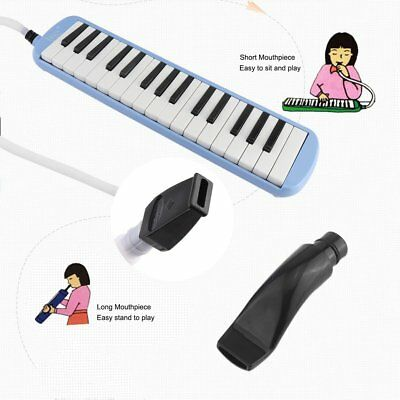 32 Piano Keys Melodica Musical Instrument for Beginners Gift with Bag Blue