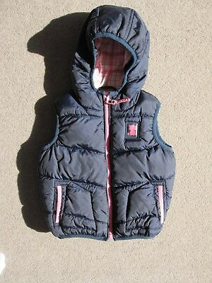 Baby girls' navy blue Next hooded gilet, 12-18 months, excellent condition