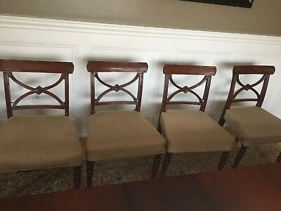 Set Of 8 Antique Mahogany Dining Room Chairs