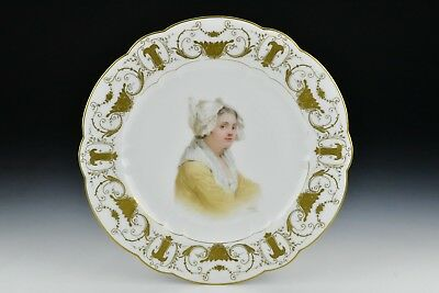Early Sevres Porcelain Portrait Plate Hand Painted Signed E. Sieffert de Sevres