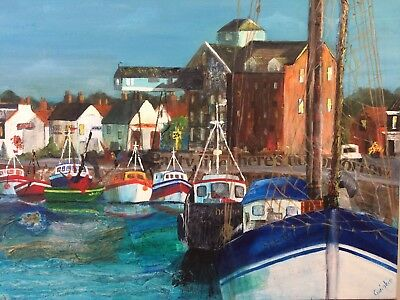 Wells Next the Sea Mixed Media Painting