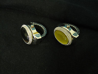 Ring Watch w/Flip Open Glass Stone Cover