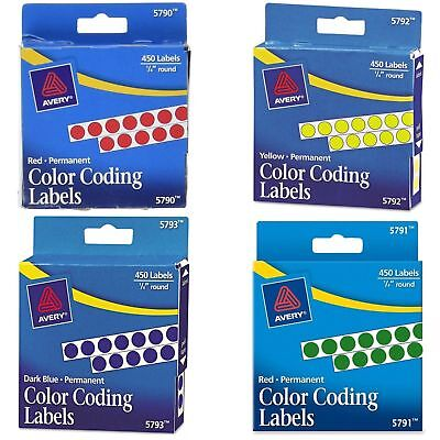 Pack of 450 Color Coding Labels 1/4 Inch Round Circle Dots Sticker Home Office