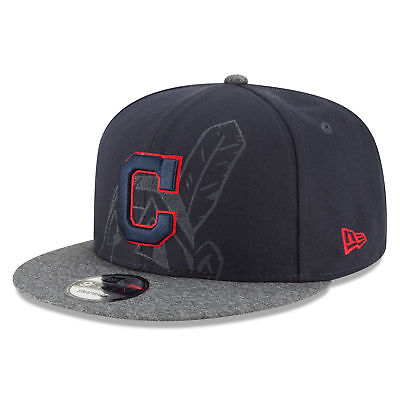 MLB Cleveland Indians New Era Logo Peek 9FIFTY Snapback Cap Unisex