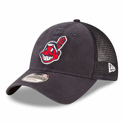 MLB Cleveland Indians New Era Central Team Trucker 9TWENTY Cap Unisex