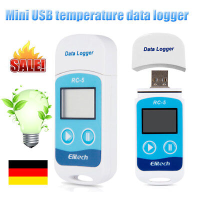 2X Thermometer Digital Mini USB Temperatur Datenlogger °C et °F Recorder IP67 DE