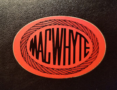"""Hard Hat sticker Small Vintage """"MacWhyte"""" Wire Rope 2-5/8"""" Oval a Pair of Two"""