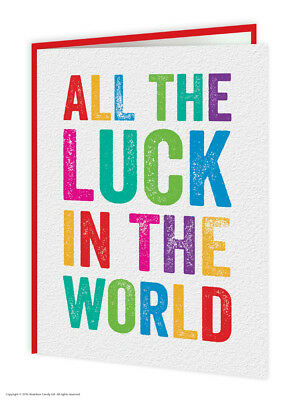 Brainbox Candy Good Luck /& Exams Greetings Cards funny humour trendy cool design