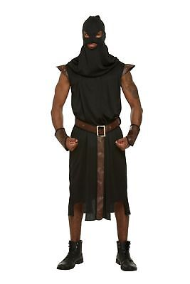 Adult Mens Medieval Executioner Dungeon Master Halloween Fancy Dress Costume