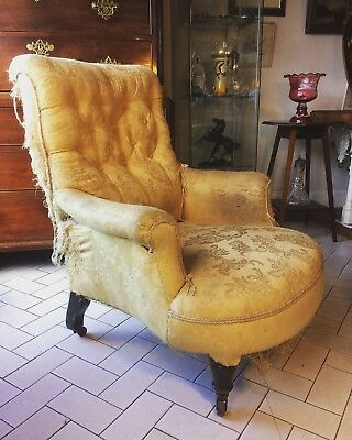 Victorian Button Back Armchair (project)