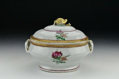 Antique Chinese Export Porcelain Covered Tureen 18th Century