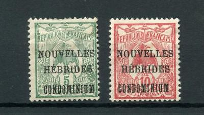 New Hebrides French 1910-11 5c and 10c SGF6/7 MM