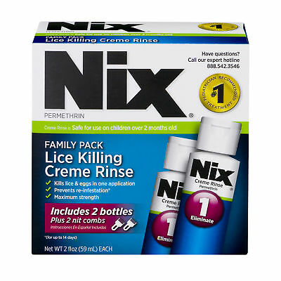 Nix Family Pack Lice Killing Creme Rinse - 2 CT