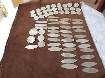 Joblot Of Vintage Chinese Mother Of Pearl Gaming Counters
