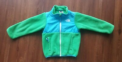 The North Face Toddler Boy Green Blue Zip Up Jacket Size 3T