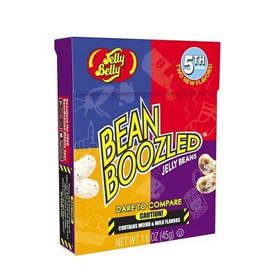 Jelly Belly BEAN BOOZLED 1.6 oz BOX - 5TH Edition - FRESH - TWELVE PACK