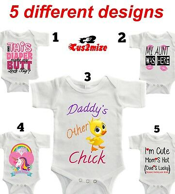 Newborn Baby Girl Kids Girls Bodysuit Outfit Set Funny Mom kids Clothes
