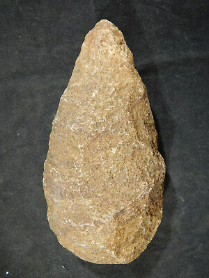 A BIG! ONE Million Year Old Early Stone Age ACHEULEAN HandAxe Mauritania 509gr e