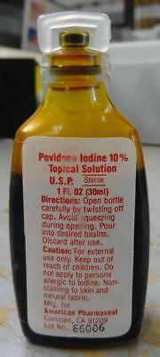 Povidone Iodine Topical Solution - Prepper / Survivalist #misc998