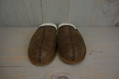 506c092cada UGG SCUFF DECO chestnut LEATHER SHEEPSKIN MENS SLIPPERS US 7 new