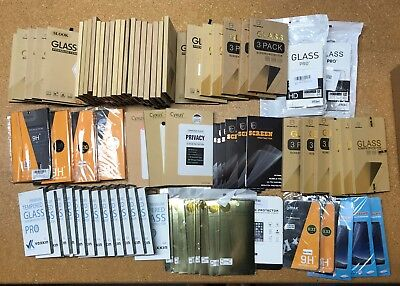 Bulk Wholesale Lot of 83 Cell Phone Screen Protector Samsung, Iphone, LG, HTC