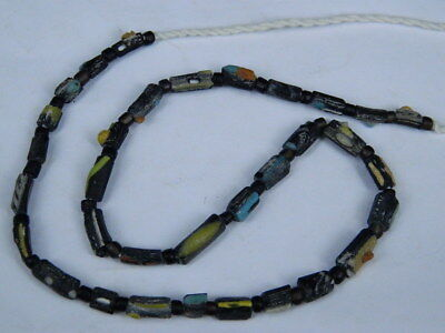 "Ancient Roman Glass Fragments Beads Strand C.200 Bc """"e5294"""""