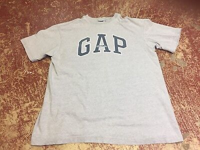 vtg 90s Gap Athletic t-shirt heather gray spellout mens M normcore