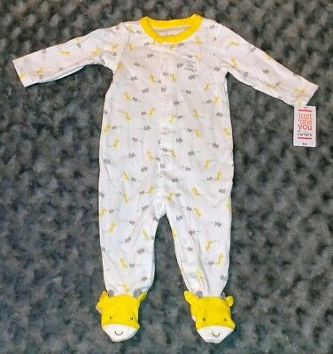 NWT Carters Baby Boy Clothes 6 Months One Piece Safari Footie Pajama Sleeper