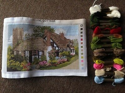 Stone Cottage Tapestry Kit