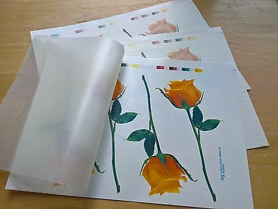 Ceramic Waterslide Decals Yellow Roses 15cm each x 12