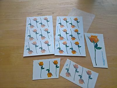 Ceramic Waterslide Decals Yellow Roses 32 x assorted sizes