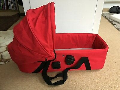 Mountain Buggy Carry Cot for Swift in Red, excellent condition