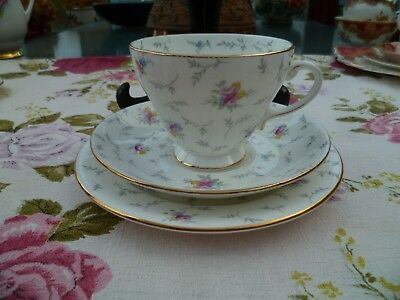 Lovely Vintage ABJ Grafton China Trio Tea Cup Saucer Plate 6616