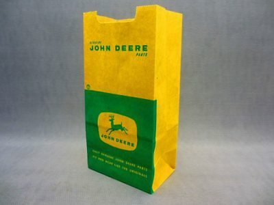 John Deere Dealership parts Bag 2 colors NOS Never used Tractor Décor Man Cave