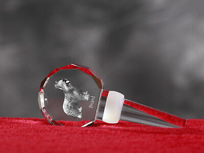 Briard, Crystal Wine Stopper with Dog, Wine and Dog Lovers, High Quality UK