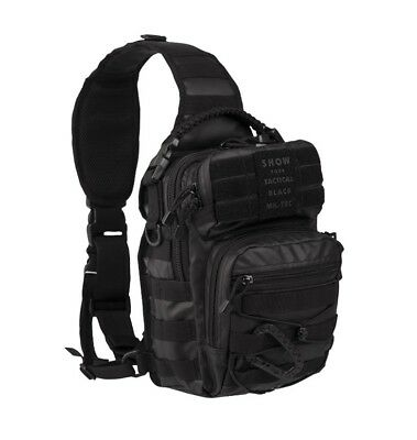 MOLLE ONE STRAP ASSAULT PACK SM TACTICAL BLACK, Rucksack 10 Liter Kampfrucksack