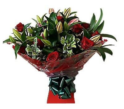 FRESH FLOWERS Delivered UK Lily and Rose Selection Free Flower Delivery