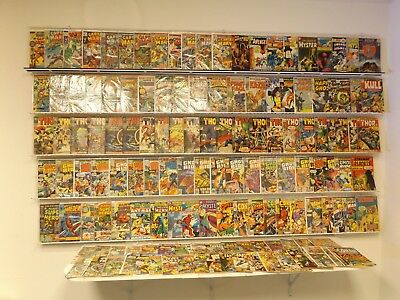 Huge Lot of 130+ Silver/Bronze comics Thor, Captain Marvel, Ghost Rider & more!