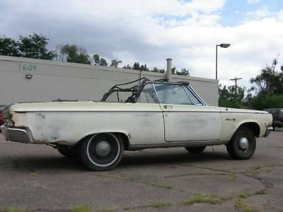 1965 Dodge Coronet Coronet 500 1965 Dodge Coronet 500 Rolling Chassis With Seat Frames GREAT CLEAN PLATFORM