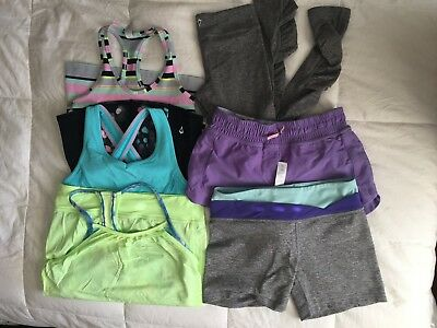 Ivivva Lot of 6 8-14 Shorts leggings and tanks