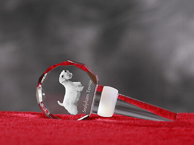 Sealyham Terrier, Crystal Wine Stopper with Dog,Wine and Dog Lovers, UK