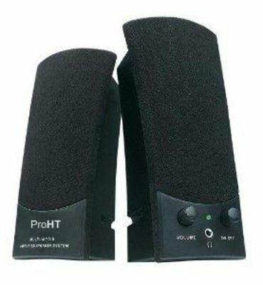 88037 Inland Products Inc. Stereo Speaker Usb Powered 2.0 Speaker System Black