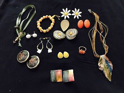 Lot of 21 Vintage, Antique and Unbranded  Necklaces Earrings And More